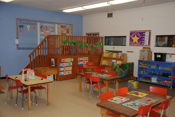 Inside our pre-school classroom in Burlington