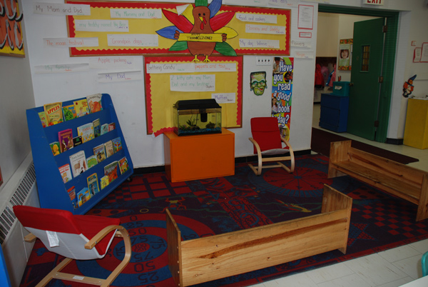 The Book Area at Our Pre-School