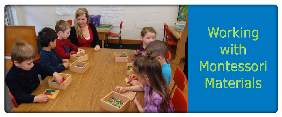 working with montessori materials